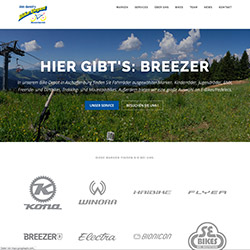 Wordpress-Homepage fuer Udo Gentil's Bike-Depot in Aschaffenburg