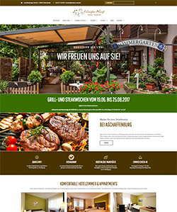 Wordpress-Homepage fuer Hotel-Gasthof Weisses Ross in Kleinostheim
